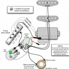 Seymour Duncan PRails wiring diagram 2 PRails, 1 Vol