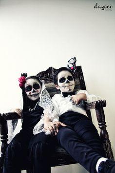 Catrinas on Behance by dayoco estudio   make up photoshoot kids sugarskull
