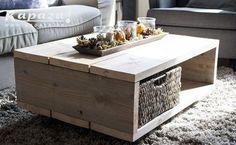 Klik voor volgende foto Diy Furniture, Coffee Table Design, Home Deco, Home Diy, Living Room Inspiration, Living Furniture, Coffee Table, Home And Living, Wood Furniture