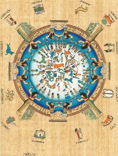 Egyptian Hand-Made Papyrus Painting - Zodiac Signs Egyptian Gift Shop http://www.amazon.com/dp/B00971KJXQ/ref=cm_sw_r_pi_dp_XBMCub0J263ZT