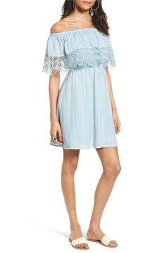 Main Image - Lush Off the Shoulder Dress