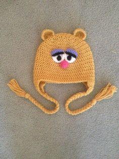 Crochet Fozzie Muppet Earflap Beanie Hat - Etsy $24.00