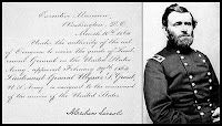 President Abraham Lincoln, impressed with Ulysses S Grant's fight and ability to win, had him promoted the Lieutenant General and on March 9th 1864 Grant took over command of all the Union forces.