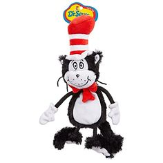 Dr Seuss Cat In the Hat Flat Dog Toy Small *** Read more  at the image link. (Note:Amazon affiliate link)