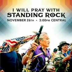 """Thank you for joining us Todayat 3pm CST/4pm EST as thousands will be praying at the front lines ofStanding Rock and worldwide!    People around the world have asked how they can support Standing Rock and the elders response is,""""Pray with us, pray for our water.""""   Today marks the day weunify, this time, with your support."""