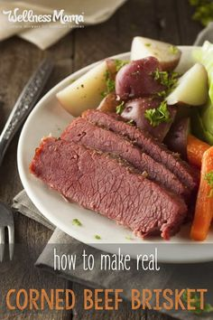 How to Make Your Own Real Corned Beef Brisket (Recipe) Avoid the chemicals this year by brining your own corned beef brisket with all natural herbs and spices. It's simple to make and so delicious! Ground Beef Recipes Easy, Beef Recipes For Dinner, Meat Recipes, Slow Cooker Recipes, Real Food Recipes, Healthy Recipes, Healthy Herbs, Primal Recipes, Paleo Food
