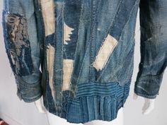 Autographed RALPH LAUREN RRL Japanese 'Boro' cloth jacket 1 of 6 image 5