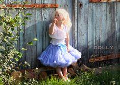 DOLLY by Le Petit Tom ® ALICE IN WONDERLAND pettiskirt light blue