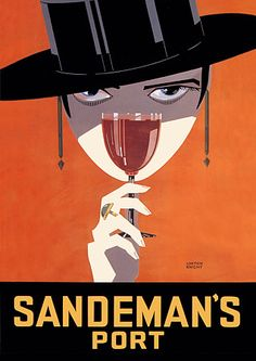 Sandeman Port by Loxton Knight Art Deco Vintage Poster