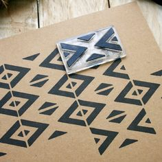 Repeat Pattern Rubber Stamp - Mexican Blanket Stamp - Geometric Repeat Pattern Stamp - Pattern Stamp - Clear Stamp by Little Stamp Store Stamp Printing, Printing On Fabric, Hand Printed Fabric, Eraser Stamp, Clay Stamps, Stamp Carving, Handmade Stamps, Fabric Stamping, Tampons