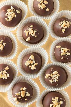 Chocolate Peanut Butter Truffles on OhSweetBasil.com