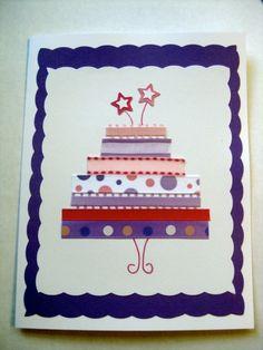my birthday ribbon card