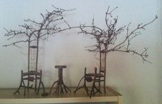 Fairy furniture made by a Louisiana artist. Photo doesn't do justice. Anyone know this artist?