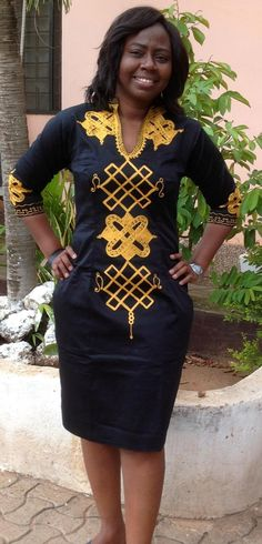Odeneho Wear Ladies Black Polished Cotton Dress With Gold Embroidery Design.. by Odenehowear on Etsy https://www.etsy.com/listing/252848834/odeneho-wear-ladies-black-polished