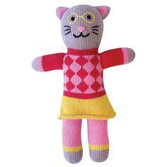 StricktierTessa Cat, Retro-Design, 36 cm, Handmade und Fair Trade, von Global Affairs