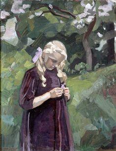 """""""Lille pige i en have"""", 1920-24"""