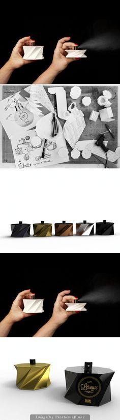 Leroux Cardboard #Perfume (Concept) #packaging #design - http://www.packagingoftheworld.com/2014/10/leroux-cardboard-perfume-concept.html