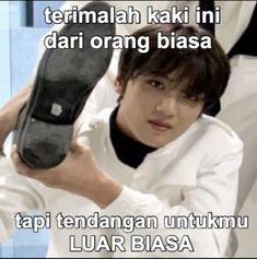 Memes Funny Faces, Funny Kpop Memes, Cute Memes, K Meme, Drama Memes, Nct Life, Cartoon Jokes, Korean Language Learning, Na Jaemin