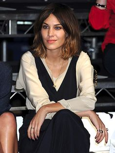Alexa Chung attends the 3.1 Phillip Lim Spring-Summer 2011 fashion show in New York, 16th September, 2010