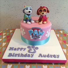 Girly Paw Patrol Birthday Cake Skye & Everest