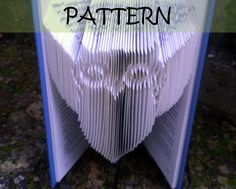 Book folding Pattern: OWL design (including instructions) – DIY gift – Papercraft Tutorial