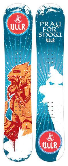ULLR Snowboard Deck Design by Dennis Salvatier, via Behance