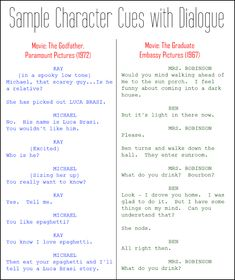 26 best screenplay format images on pinterest handwriting ideas