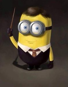 Two of my most favorite things! Harry Potter and Minions! although the minion is a bit creepy. Minions Love, Minions Despicable Me, My Minion, Minions 2014, Minion Stuff, Minion Humor, Minion Rush, Evil Minions, Funny Minion