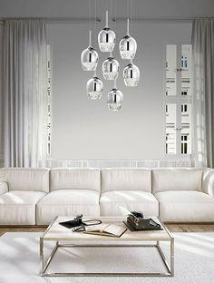 Kourtakis Lighting - LED #πολυφωτο κρεμαστό για το #σαλονι σας από μέταλλο με κρυστάλλινο τελείωμα για να δώσει στον χώρο σας την διακριτική πολυτέλεια που του αρμόζει. Διαθέτει ενσωματωμένο #LED με θερμό λευκό φωτισμό και μπορείτε να το  δείτε: http://kourtakis-lighting.gr/fotistika-polifota-kremasta-indoor-fotistika-rages-diakosmisi/3501-led-moderno-fotistiko-kremasto-saloniou-35watt-metallo-diafano-gyali-ricca-mb15030009-7a.html