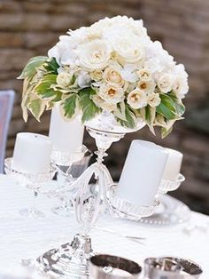 Classic Centerpieces, Wedding Flowers Photos by A Whole Bunch Flower Market