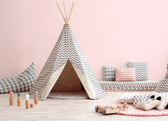 Arizona Teepee: Teepee for kids! Their dream came true! Let your children release their imagination and play for hours with the Nobodinoz teepee play tent, add more fun and colors anywhere in your home! • Cheerful and functional design, definitely a must! • The teepee can shelter up to 3 kids. • Combine it with our Apache carpet          • Fun, safe and easy to build. • Made with OEKO-Tex certified fabric. • FSC certi...