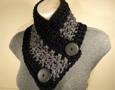 Nuevo botón bufanda capucha de ganchillo ganchillo bufanda