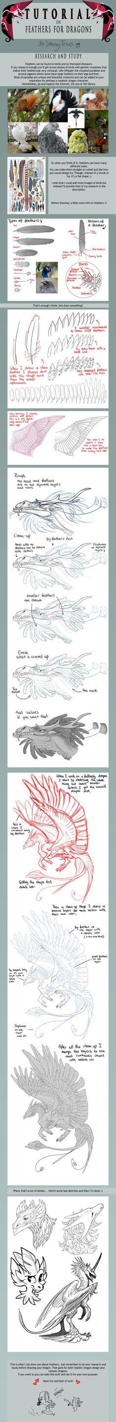 TUTORIAL: Feathers for Dragons by SammyTorres.deviantart.com on @DeviantArt: