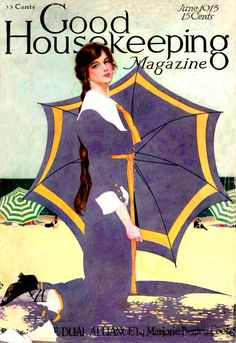 Good Housekeeping magazine cover June 1915 Coles Phillips