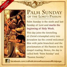 Roman Catholic - Palm Sunday of the Lord's Passion