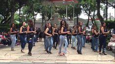 Women demonstrate the Angolan 'Kizomba' dance