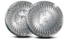 De nieuwe herdenkingsmunt van vijf euro voor de Vrede van Utrecht zal de laatste officiële herdenkingsmunt worden met daarop alleen koningin Beatrix. De Nederlandse Munt zal ook een gouden Vrede van Utrecht-Tientje uitgeven. Beeld: Koninklijke Munt