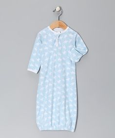 Cowboy infant gown Light Blue Yipee Organic Sweetpea Gown by Sweet Peanut on #zulily today!