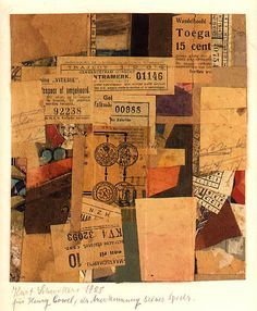 ART & ARTISTS: Kurt Schwitters - collages