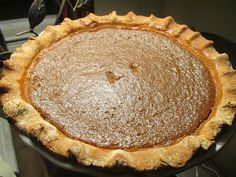 Pumpkin Pie with Buttered Sourdough Crust -- all natural and real ingredients -- no refined sugars!
