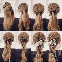 Một kiểu tóc tết khá đơn giản nhưng lại vô cùng xinh đẹp cho cô dâu đúng không nào?