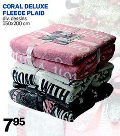 Coral deluxe fleece plaid promotie - Action - Huismerk - Action