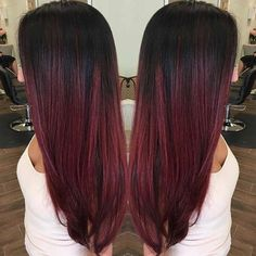 M Studios San Diego Ca United States Red Violet Balayage Ombré