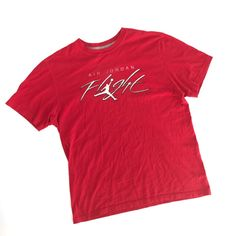b9b5ea9c29f Air Jordan Flight Tshirt Mens Large Red White Jumpman