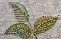 ~Anna Scott : Blanket stitch leaves - part one~
