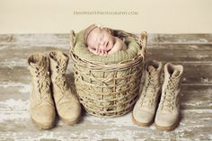 this is adorable; Dual Military :)    Sienna {Monterey Newborn Photographer} » Erin White Photography