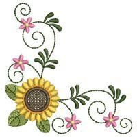 Sunflowers - Wind Bell Embroidery | OregonPatchWorks