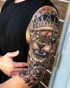 Angry Lion King Tattoo 1 to 100 Rate This Angry Lion King Tattoo 1 to 100 - -Rate This Angry Lion King Tattoo 1 to 100 - - awesome lion tattoo ideas © tattoo by boby_tattoo ❤🐵❤🐵❤🐵❤🐵❤🐵❤ TopTatuagens ( Hand Tattoos, Lion Forearm Tattoos, Lion Head Tattoos, Arm Tattoos For Guys, Horse Tattoos, Animal Sleeve Tattoo, Lion Tattoo Sleeves, Full Sleeve Tattoos, Tattoo Sleves