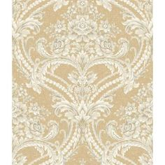 York Wallpaper this wallpaper priced for Single Rolls. Thanks for shopping Mahones Wallpaper Shop for pattern book name St. Augustine brand York Wallcovering pattern name BAROQUE FLORAL DAMASK. Gold Damask Wallpaper, Cream Wallpaper, Victorian Wallpaper, Embossed Wallpaper, Wallpaper Roll, Pattern Wallpaper, Charcoal Wallpaper, Paisley Wallpaper, Fabric Wallpaper