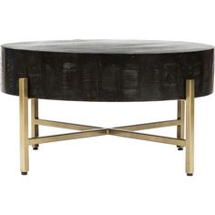Toronto Coffee Table, Onyx ($629) ❤ liked on Polyvore featuring home, furniture, tables, accent tables, black furniture, onyx table, black coffee table, gold furniture and onyx furniture